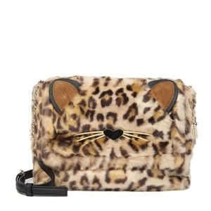 kate spade new york run wild faux fur shoulder bag